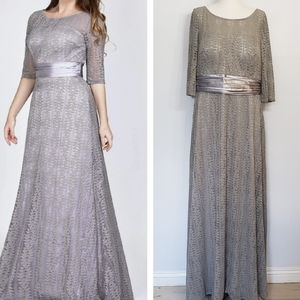 EVER PRETTY gray lace Mother of the bride dress 18